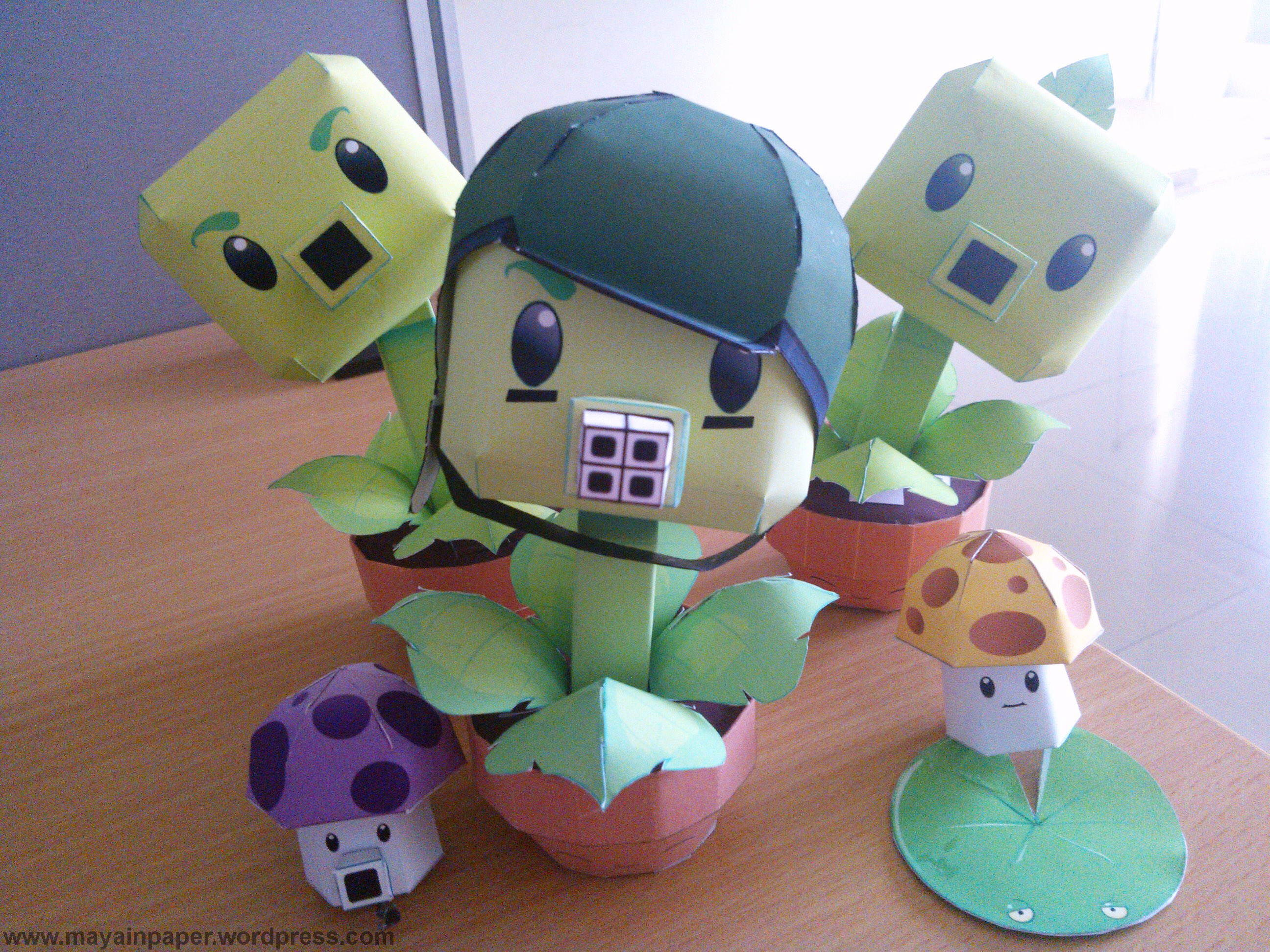 Gatling Pea Papercraft
